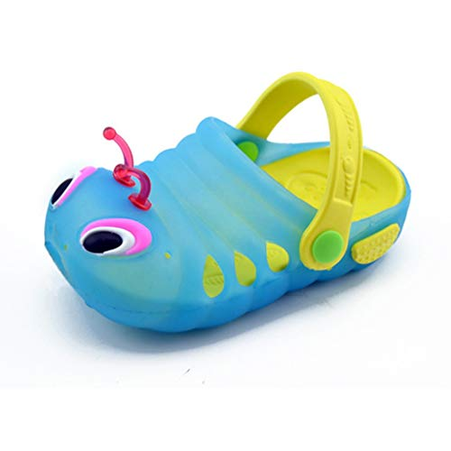 Vamoro Sommer-Kleinkind-Baby-Mädchen-Nette Karikatur-Strand-Sandelholz-Pantoffel-Schlag-Schuhe Gartenschuhe Clogs Kinder Gartenschuhe Kuschelige Hausschuhe Latschen(Blau,26 EU)