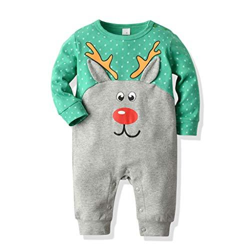 Cuteelf Herbst und Winter Dicke warme Unisex Baby Overall Cartoon Kinderkleidung Jungen Mädchen Weihnachten Cartoon Tier Pyjama Overall Anzug Klettern Kleidung