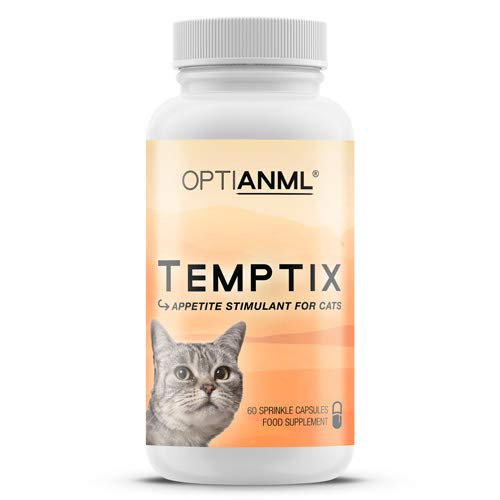 Astral Nutrition OPTIANML Temptix Appetite Stimulant For Cats - 1 Month Supply | Boosts Hunger | For Cats That Won't Eat