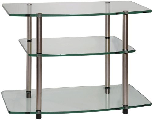 Convenience Concepts Designs2Go Classic Glass TV Stand, Glass