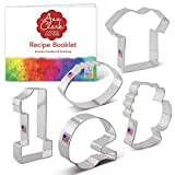 Ann Clark Cookie Cutters 5-Piece Football Cookie Cutter Set with Recipe Booklet,...