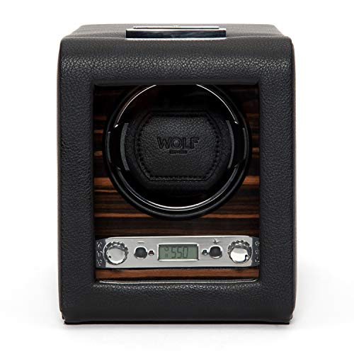 457056 Roadster Single Watch Winder with Cover, Black