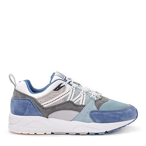 Karhu Sneaker Fusion 2.0 in Suede E Nylon Azzurro E Grigio