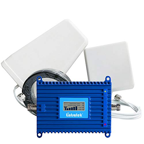 Lintratek AT&T T-Mobile Verizon AWS 1700/2100MHZ Band 4 Mobile Amplifier Repeater LCD Display 3G 4G LTE Cell Phone Signal Booster Kit for Home and Office
