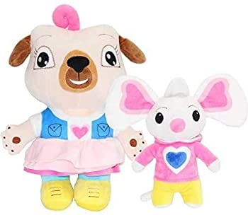 Enjoyyouselves Plush Toy 2pcs/lot Chip and Potato Plush Toys Doll Cartoon Pug Dog and Mouse Plush Doll Stuffed Animal Toy for Kids Birthday Gifts