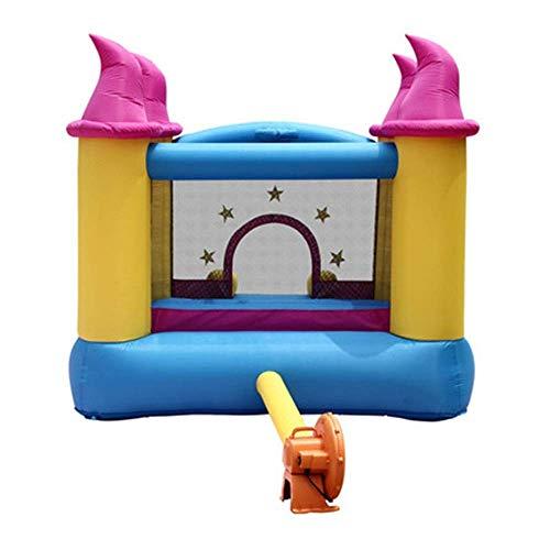 SSeir Kids Bouncy Castle Diapositiva Infantil Castillo Inflatable Al Aire Libre Casa Pequeño Trampoline Inflable Bounce Casa de Rebote (Color: Multicolor, Tamaño: 279x236x213cm)