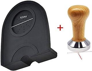 WJFQ Presse Mouture Café Café Tamper 51mm Silicone Mat Machine à Espresso Plat de Base en Acier for Les Haricots Barista C...