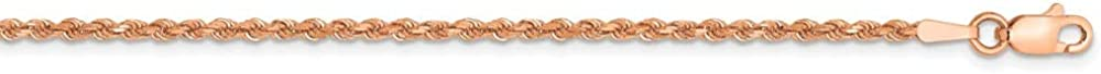 14k Rose Gold 1.75mm Link Rope Anklet Ankle Beach Chain Bracelet Handmade Fine Jewelry For Women Gifts For Her