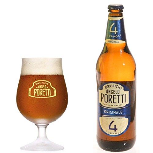 Birra poretti 4 luppoli cl33x24pz gradazione alcolica 5.5% (083920)