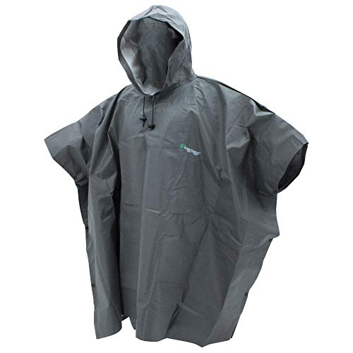 FROGG TOGGS Men's Ultra-Lite2 Waterproof Breathable Poncho, Carbon Black, One Size