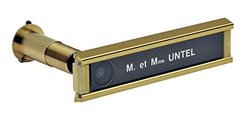 Jourjon Jean 017512 Namensschild mit Türspion, goldfarben, 28–63mm