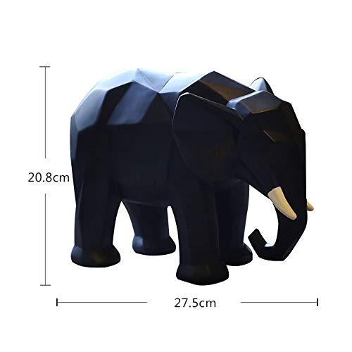 Sculpture Creative Origami geometrico ornamenten dier paard olifant figuur Europese figuur van hars voor woonkamer accessoires kerstgeschenk kantoor ornamenten Ba 4