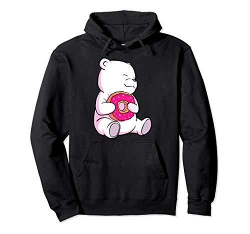 Eisbär und Donut Tierliebhaber Kinder Geschenk hemd Pullover Hoodie