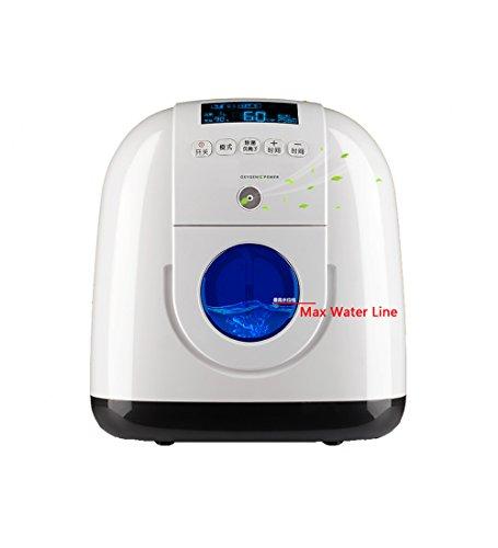 BJL Concentrador de oxígeno Concentrador de oxígeno - Generador portátil de concentrador de oxígeno Purificador de Aire de la máquina de oxígeno en el hogar Salida 1-5 l/min Regulación múltiple ajus
