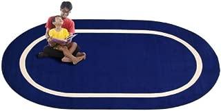 Kid Carpet FE732-45A Montessori Oval Nylon Area Rug, 7'6
