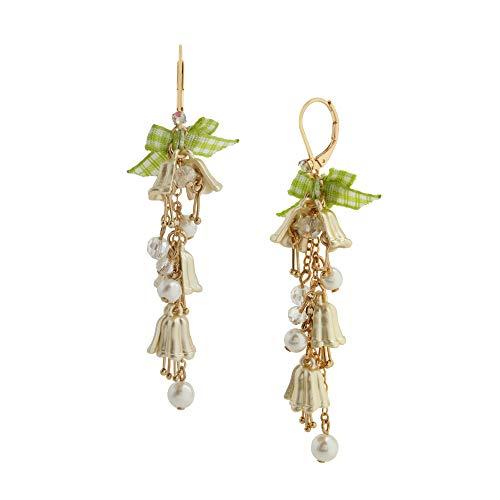 Lily Flower Linear Earrings