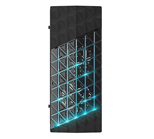 Azza Onyx 260X RGB White PC-Gehäuse, Schwarz, 473mm x 198mm x 447mm