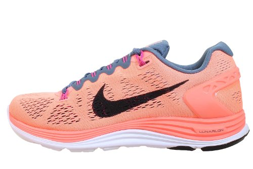 Nike Women's Lunarglide+ 5 (11.5, Atomic Pink/Black/Armory Slate/Club Pink)