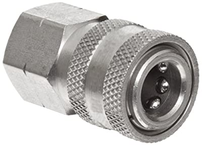 Dixon STFC Series Stainless Steel 303 Hydraulic Quick-Connect Fitting, Coupling x Straight