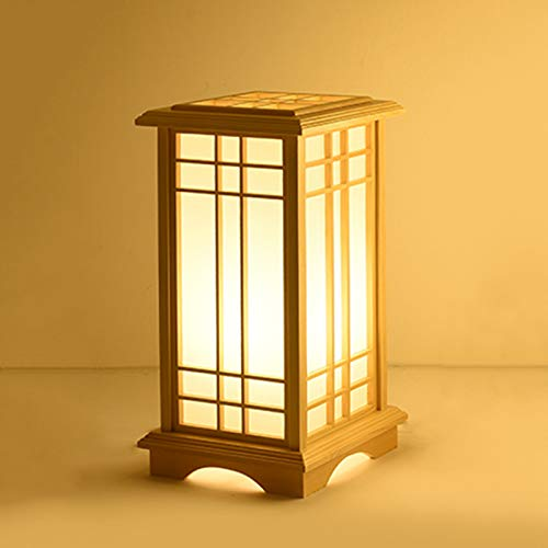 Lámpara de mesa cálida estilo chino LED 220 V moderna de madera maciza para dormitorio, salón, habitación de bebé, estudiante, cómoda, mesa de salón, estantería