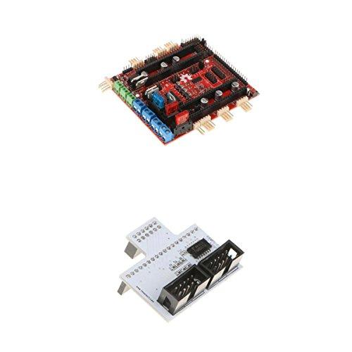 SDENSHI Interruptor Adaptador De Panel LCD De Impresora 3D Y Placa Convertidora RAMPS- para Adruino Due