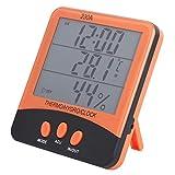 Medidor de Humedad de Temperatura Interior y Exterior, Termohigrómetro de Alta Precisión, con Función de Reloj y Función de Alarma de Heladas, para Hogares, Oficinas, Fábricas, Laboratorios, Instituto