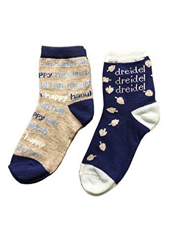 Hanukkah Kid's Novelty Socks Bundle - Happy Hanukkah and Dreidel Socks
