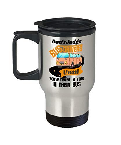 Schoolbuschauffeur mok chauffeur waardering dank u geschenk terug naar school cadeau gele school bus geweldig bus bestuurder reismok met deksel