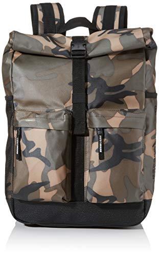 Superdry Herren Roll Top Tarp Backpack Rucksack, Mehrfarbig (Green Camo), 11x38x29 cm