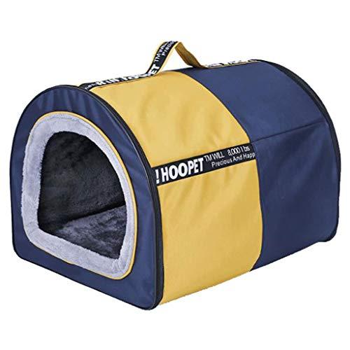 Hundebett Katzenbett Hundesofa Faltbare Kennel Abnehmbare Dog House Warm Auflage-waschbare Haustier-Bett-Anti-Rutsch-Welpen-Decken-Sofa Schlafen - 45 * 38 * 36cm Warme Weiche Hundekorb ( Size : L )