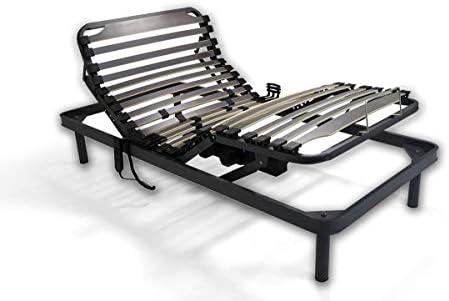Duermete Cama Articulada Eléctrica Reforzada-Disponible en Varias Medidas, Gris, 75 X 190
