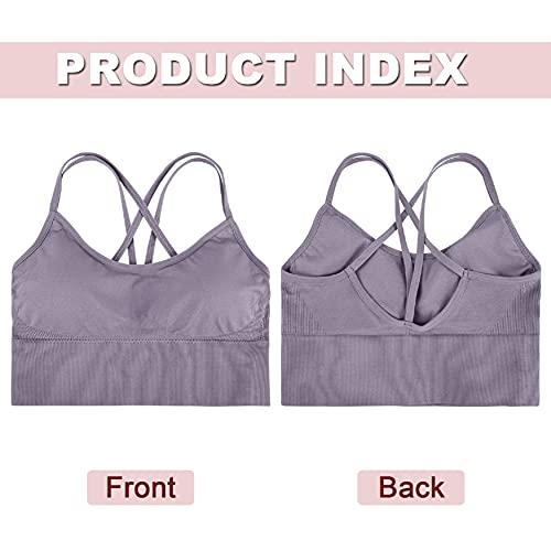 UMIPUBO Women's Sports Bras Remove Padded Comfy Seamless Yoga Running Bra Comfort Bra Seamless Women Lady Athletic Solid Wrap Chest Strap Vest Tank Tops Bra