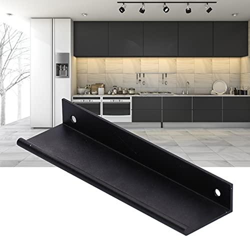 Manijas de puerta, manijas de gabinete de cocina engrosadas Manijas de puerta de granero Tirador de puerta de armario de aleación de aluminio para cajones para gabinetes para vino gabinetes(128 black)