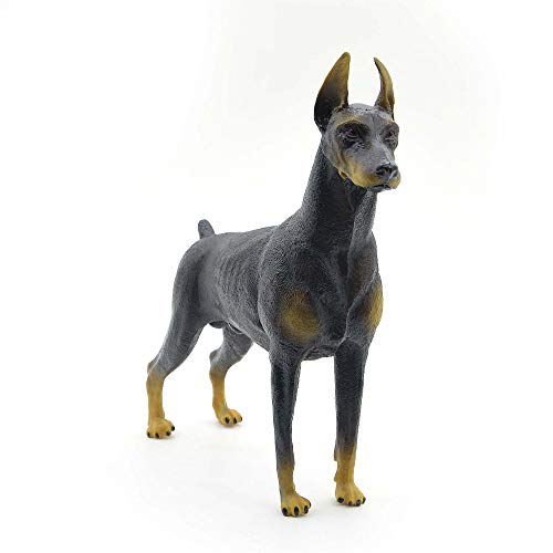 Kolobok – Farm Animals Action Figures - Dogs – Doberman Pinscher – Zoo Pets Educational Toys - Brown