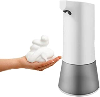 Morwealth Automatic Soap Dispenser 350ml, Touchless Foaming Electric Soap Dispenser USB Charging with Sensor for Kitchens and bathrooms