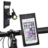 TIMESETL Soporte Movil Bicicleta Soporte Teléfono Impermeable Bicicleta, Soporte Manillar Smartphones Ajustable de 360 ° Soporte para Bicicleta Bolsa Manillar para Teléfonos de Hasta 6 Pulgadas