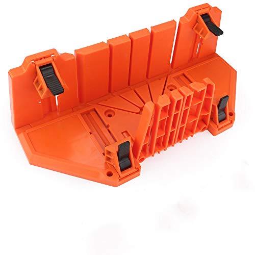 NOBGP Gehrungssäge Box 14 Zoll Kunststoff Holzbearbeitung Klemmen Gehrung Box Doppelseitige Zähne DREI Winkel Slot Typen Säge Box Handwerker Werkzeug für Schreiner Zimmermann
