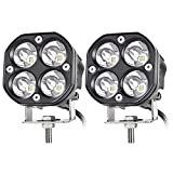 3 Inch LED Pods Spot Light Bar, nifeida 2PCS 40W Cree LED Off Road Work Light Truck Fog Lamp Tail Light IP69 Waterproof Compatible for Off Road Truck Boat Pickup ATV UTV SUV Motorcycle Tractor Boat