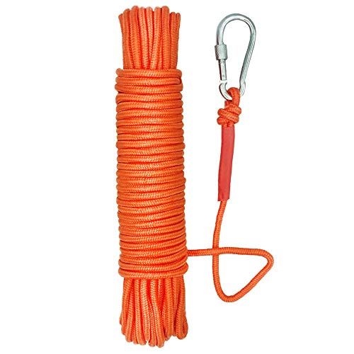 UTOMAG Magnet Fishing Nylon Rope, 65 Feet All Purpose High Strength Cord Braid Rope – Good for Magnet Fishing – Diameter 6mm / 8mm – Approximately 1/4' / 1/3'
