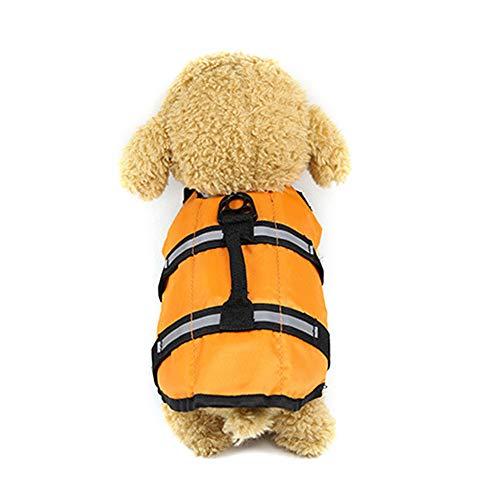 Urijk Hund Schwimmweste Hundelebensweste Rettungswesten Badeanzug Weste für Kleine Mittlere Große Hunde Haustier XS