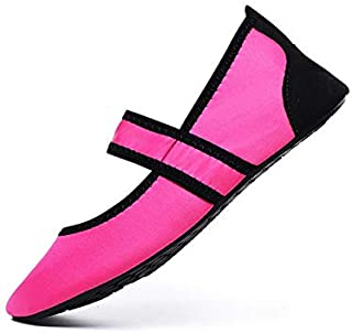 Women Aqua Shoes Beach Wear Swimming Pool Footwear Barefoot Female Fishing Water Sneakers Non-Slip Walking Water Shoes Gaodpz (Color : Pink, Size : 35)