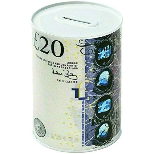 POUND NOTES £ Design Money Coin Box Tin Savings Printed BANKNOTE Kids GIFT...