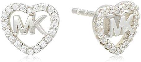 Michael Kors Women Cubic Zirconia Hearts Earrings 925 Sterling Silver