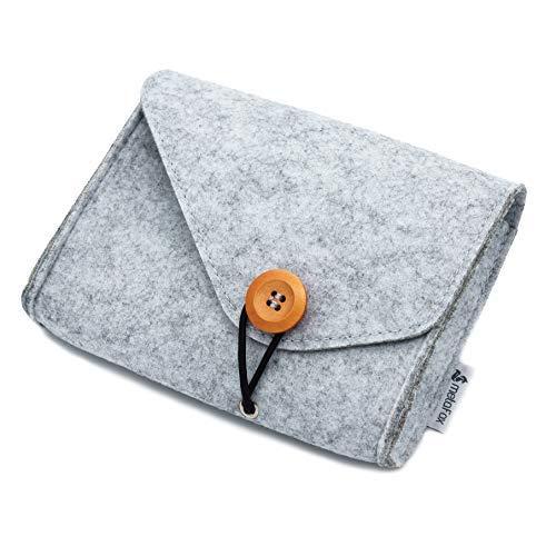 metaFox | Postkarten Filztasche | Organizer für Postkarten, Aufbewahrungstasche (Grau)
