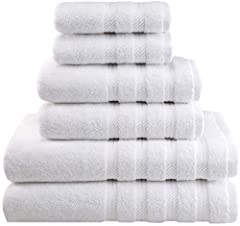 The Set includes (2-Piece) 27 x 54 inch Bath Towels, (2-Piece) 16 x 28 inch Hand Towels & (2-Piece) 13 x 13 inch Washcloths 6-Piece premium 100% Turkish Genuine Cotton Towel Set adds a touch of elegance to any home décor, hotel, spa & dorm. These Tow...
