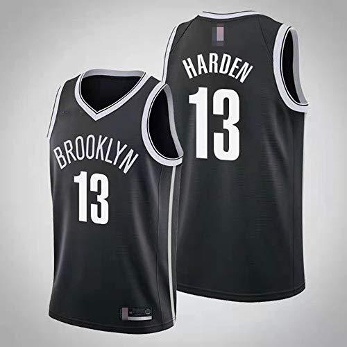 Jerseys De Baloncesto De Los Hombres, Brooklyn Nets # 13 James Harden - NBA Transpirable Quick-Secking Chalges Uniformes Classic Confort Camiseta Sin Mangas Tops,Negro,L(175~180CM)