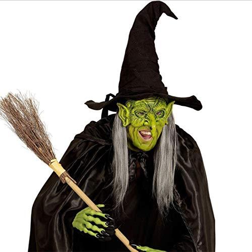 XIAMAZ Halloween Lange Nase Horror Hexe Latex Maske Urlaub Kostüm Party Ordentlich Rolle Spielen Prop Schaum Maske Cosplay Maske