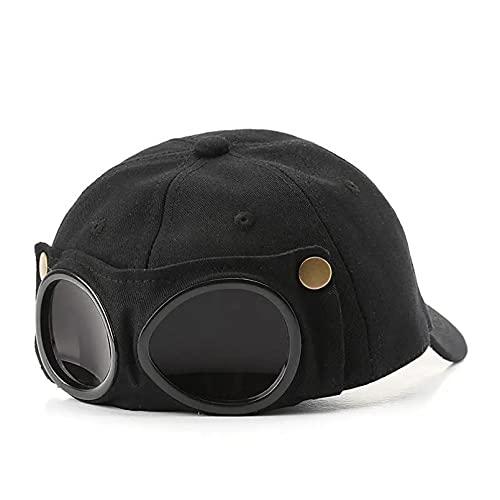 Lianaic Gorras De Hombre Personalidad Femenina ins Gafas voladoras Sombrero al Aire Libre montañismo Pesca Masculino sombrilla versión béisbol