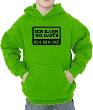 Fred Hayman Touch Sweatshirt Kann nix dafür-Ich Bin So Sweat-Shirt, Vert (Real Green), 5 Ans (110 cm) Mixte bébé