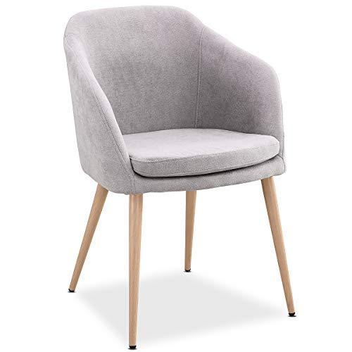 Mc Haus LARA - Sillón Lounge, Estilo Escandinavo, Sillas De Comedor, Cómoda Tapicería De Tela, Di
